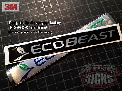 Domed FORD ECOBEAST overlays ecoboost *FITS 2010-14 F150 ONLY* sold individually