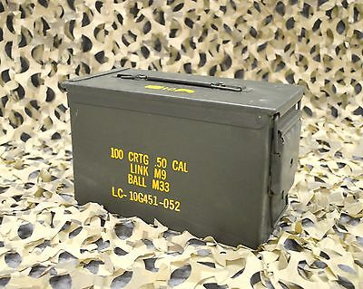 .50 Cal M2A1 AMMO CAN VERY GOOD CONDITION  * FREE SHIPPING *