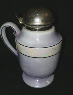 Rare PURPLE Luster covered Syrup Pitcher/Jug, Royal Rochester Co, Hand Painted