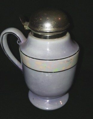 Rare PURPLE Luster covered syrup pitcher/jug ,Royal Rochester Co Hand painted