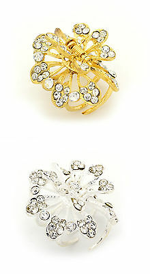 Small Butterfly Diamante Hair Clip Tort Bull Grip Claw Clip Clamp Butterfly Clip