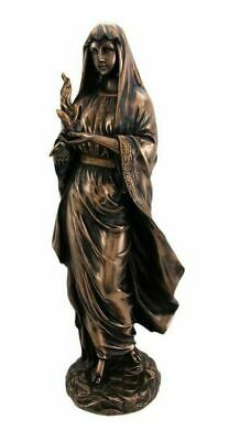 "Greek Goddess Statue Hestia Figurine Hearth Home Mythology Bronzelike Rhea 12""H"
