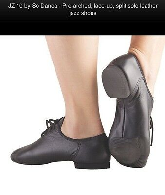 Leather Jazz shoes, Lace, Arched.split Sole. Size. 4.5. By So Danca