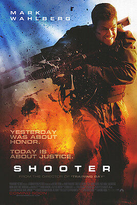 Shooter Version B Double Sided Original Movie Poster 27x40 inches