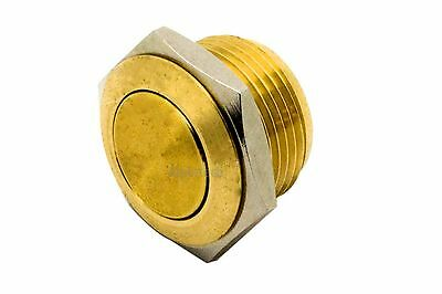 ATI-BR1601 16mm BRASS Clicky PushButton Switch Shallow Depth