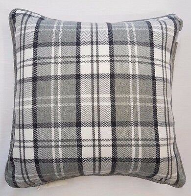 Highland Tartan Check Thick Piped Wool Cushion Cover £6.99 Each Free Postage