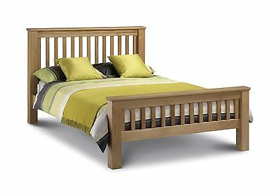 Amsterdam Solid Oak Bed, Double, Kingsize & Super King, Luxury Bedroom Furniture