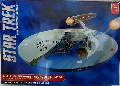 AMT Star Trek U.S.S.ENTERPRISE NCC-1701 CUTAWAY   Model Kit Bausatz Neu OVP