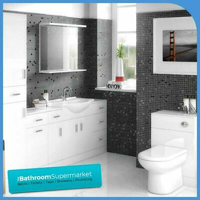 Bathroom Furniture Suite Vanity Unit Cabinet Toilet Basin Back To Wall WC Unit