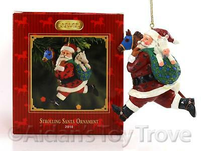 Breyer 700910 Strolling Santa Ornament - Christmas Holiday 2010 NIB