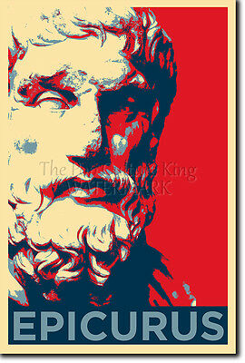 EPICURUS ART PHOTO PRINT POSTER GIFT PHILOSOPHY ATHEISM ATHEIST QUOTE