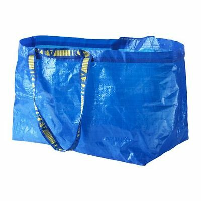 2 Pack IKEA FRAKTA Large Blue Reusable 19-Gallon Tote Bag
