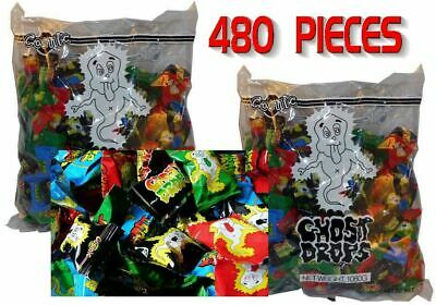 Bulk Lot 480 x Cosmic Ghost Drops 2 Bags Lollies Wrapped Sweet Candy Party Favor