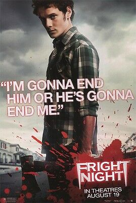 """Fright Night Version E  Single  Sided 27""""x40' inches Original Movie Poster"""