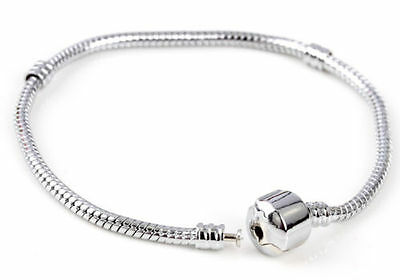 NEW sterling solid silver Bracelet for European charms UK glass beads