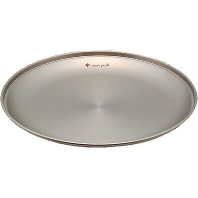 Snow Peak Japan SP Plate Tableware Camping Dish stainless 189mm TW-033