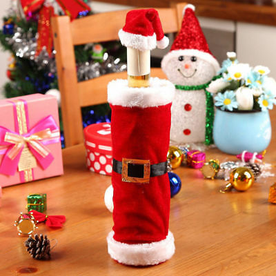 Hot Merry Christmas Santa Wine Bottle Bag Cover Xmas Dinner Party Table Decor