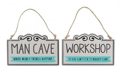 No. 1 Dad Man Cave or Workshop Wooden Hanging Sign Fun Novelty Gift Men Plaque