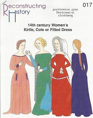 Schnittmuster RH 017 Paper pattern 14th century Women's Kirtle, Cote