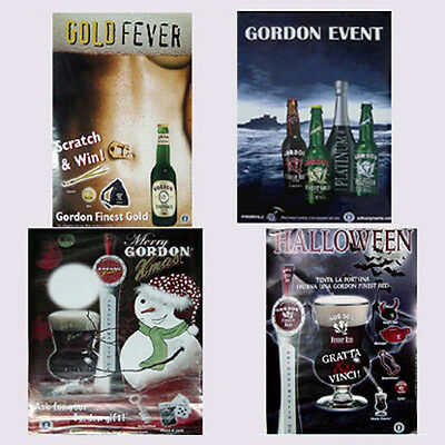 Kit 4 poster Birra Gordon arredo pub bar idea regalo manifesto halloween xmas #A
