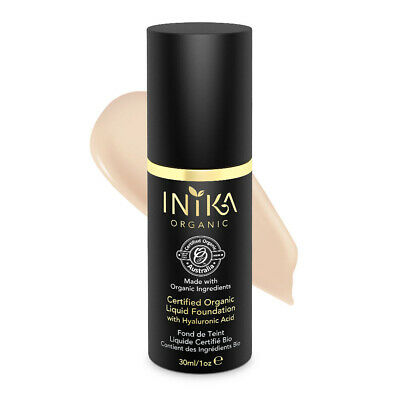 New Inika Certified Organic Liquid Mineral Foundation Beige with Hyaluronic Acid
