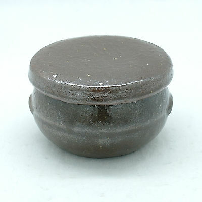 Hard and lumpy Earthenware Jar small sauce container with lid