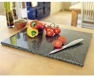 Large Black Kitchen Granite Speckled Stone Cutting Chopping Board Worktop Saver