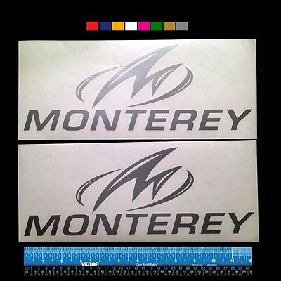 "ROBALO  Boats Marine HQ Decals 12/"" TWO Silver Metallic 2 more"
