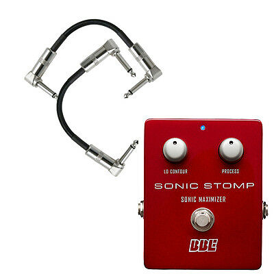 "BBE Sonic Stomp SS-92 Maximizer Stomp Box Guitar Pedal w/ 2 6"" Patch Cords"