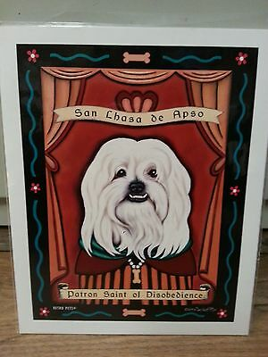 "Retro Pets Works of Art Poster ""Lhasa Apso"""