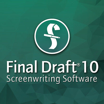 Final Draft 10 Screenwriting Script Writing Software Academic DOWNLOAD--New!!