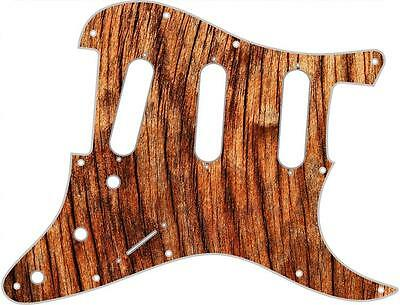 Stratocaster Strat Pickguard Custom Fender SSS 11 Hole Guitar Wood Old Vibe