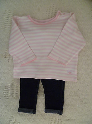 Baby clothes GIRL 6-9m outfit top/Disney denim-look leggings 2nd item postfree!