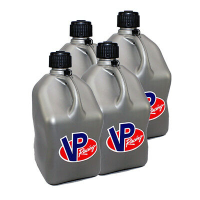 4 VP Racing Silver 5 Gallon Square Fuel Jugs / Water Container / Jerry Gas Can