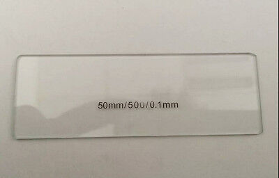 Calibration Slide 50mm 0.1mm Scale Micrometer Microscope Stage