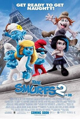 Smurfs 2 Intl B Double Sided Original Movie Poster 27x40 inches