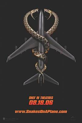Snakes On A Plane Advance Double Sided Original Movie Poster 27x40 inches
