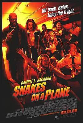 Snakes On A Plane Regular Double Sided Original Movie Poster 27x40 inches