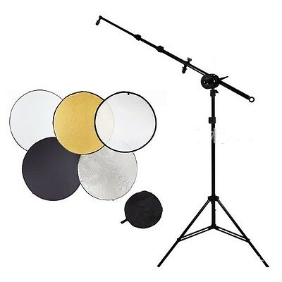 """New Photo studio 32"""" 5 in 1 Reflector stand Holder Arm mounting bracket Kit"""