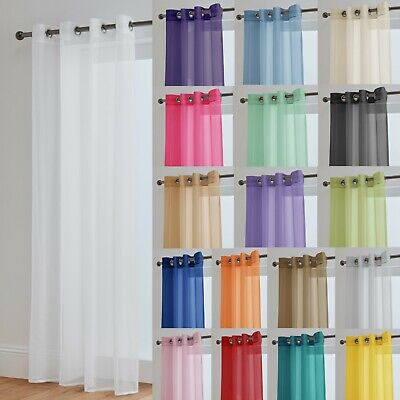 Lucy Eyelet Ring Top Voile Curtain Panel  - Net Voile Curtains