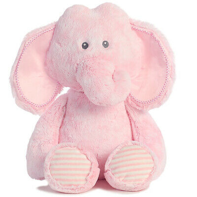 "Elephant Pink Baby Safe soft plush toy 12""/30cm Snuggy Elephant- Korimco NEW"