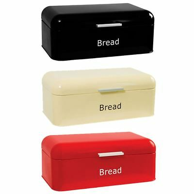 Curved Bread Bin Kitchen Food Storage Retro Vintage Loaf Box By Home Discount