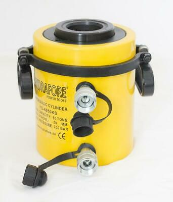 """Double Acting Hollow Ram 10000PSI Hydraulic Cylinder (60 tons 2"""") YG-6050KS"""