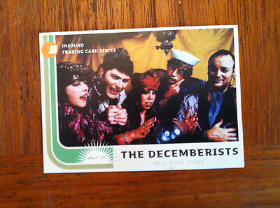The Decemberists Promo trading card Rare ( REM, XTC, Modest Mouse, Toad )