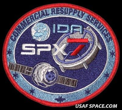 SPACEX SPX-7 - NASA COMMERCIAL ISS RESUPPLY ORIGINAL AB Emblem SPACE PATCH
