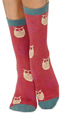 Owlet! women's blush socks by Braintree. Made from bamboo!