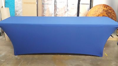 8 ft  Royal Spandex Lifetime  Table Cover,event,cater,linens,tradeshow