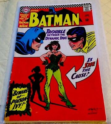 Batman 181 - 1st First Appearance of Poison Ivy  OWW NO Centerfold suicide Squad