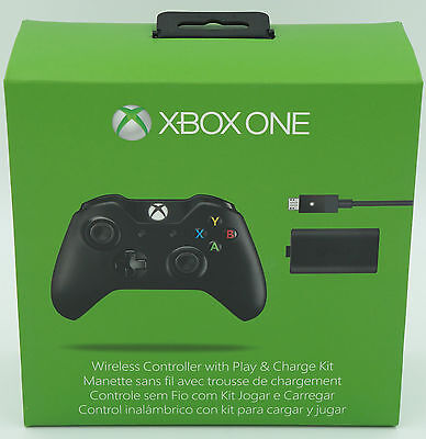 Official Microsoft Xbox ONE Wireless Controller Play and Charge Kit 3.5 mm Jack