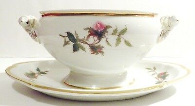 "Vintage Haviland & Co. Limoges "" Moss Rose "" Gravy Boat  EC"